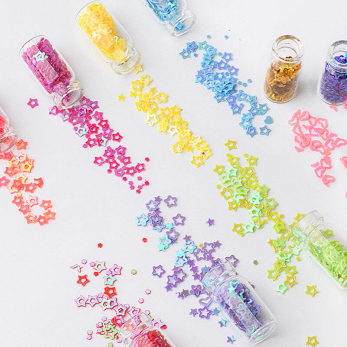48 Bottles/Set Nail Art Sequins Glitter Powder Manicure Decoral Tips Polish Nail Stickers Set
