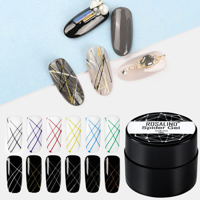 5ml Spider Gel Nail Polish Set For Manicure Point To Line Drawing And Painting Decoration