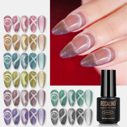 7ml Milk Tea Color Cat Eye Gel 9D Cat Eye UV Gel Nail Polish Mermaid Cat Eye Phototherapy Gel