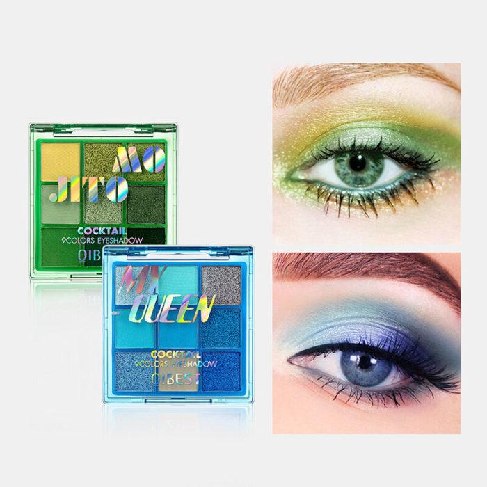 9 Colors Pearl Matte Nude Eyeshadow Palette Portable Waterproof Long Lasting Hold Makeup Eyeshadow Powder