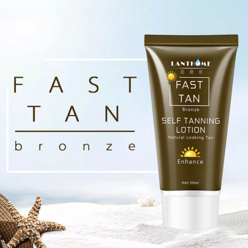 Body Bronze Self Tanning Cream Enhance Lotion Tanning Cream Natural Bronzer Sunscreen