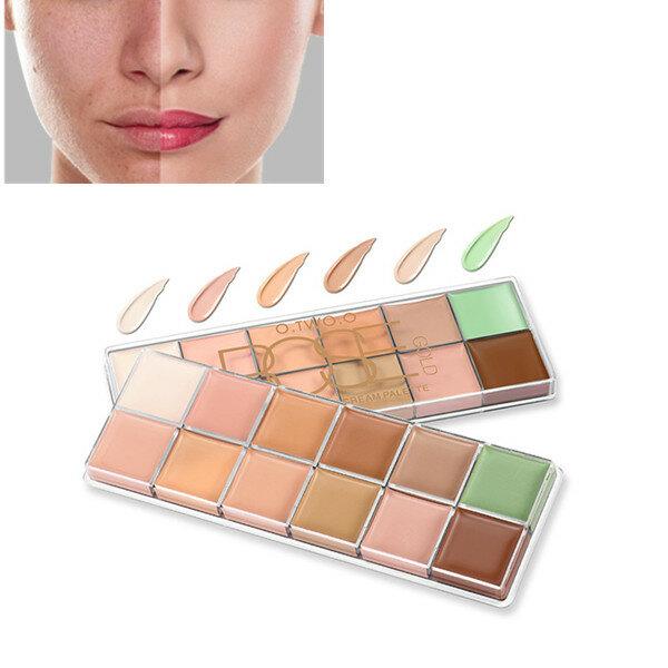 O.TWO.O 12 Colors Makeup Concealer Palette Contour Acne Cover Cream Long Lasting Waterproof Concealer