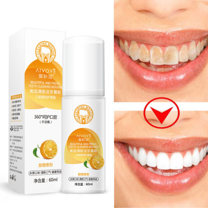 Teeth Whitening Fresh Breath Foam Remove Black Yellow Smoke Tea StainsPortable Oral Freshener