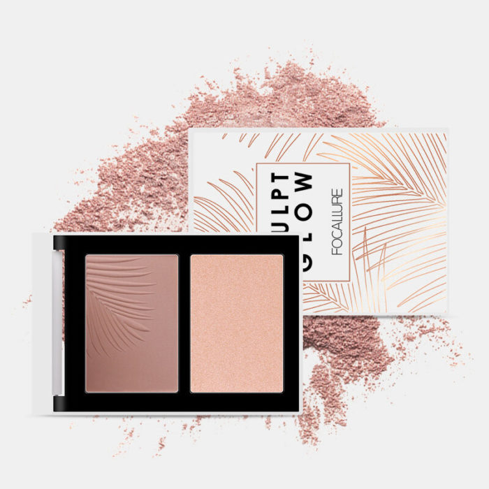 Two-Color Combination Highlighter Palette Shadow Nose Shadow Powder Face Makeup