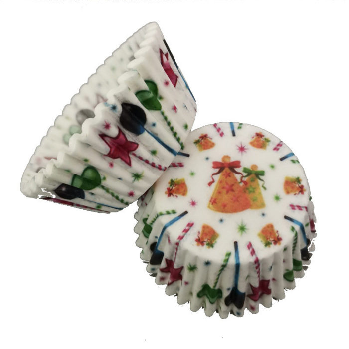 100Pcs Muffin Christmas Bell Cupcake Wrapper Paper Cups Egg Oil-proof Case Home DIY Baking Tool