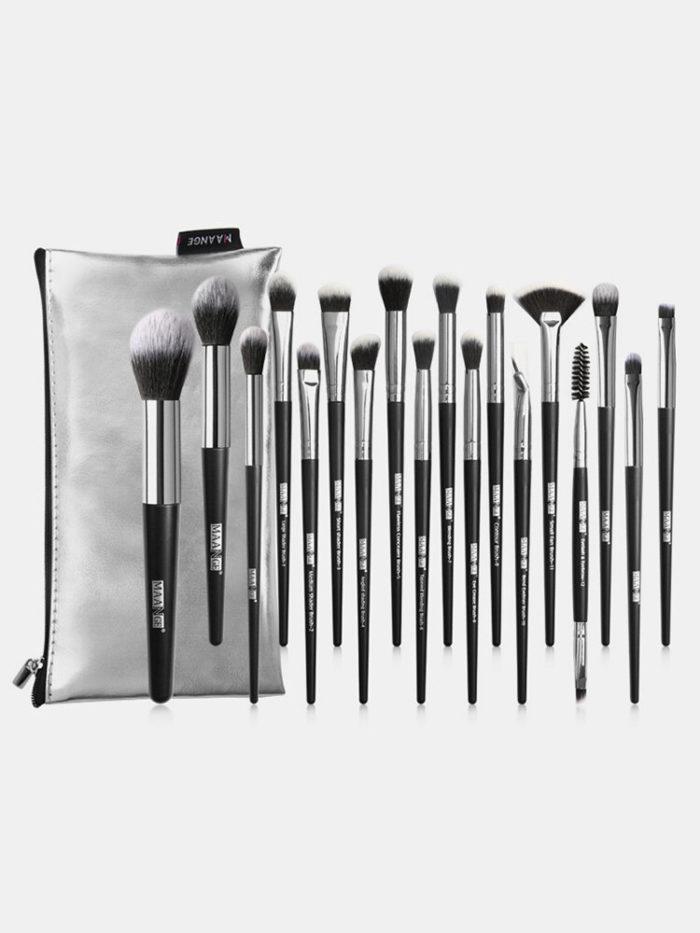 18 Pcs Makeup Brushes Set Portable Concealer Eyeshadow Loose Powder Brush Brush Pack Makeup Tool