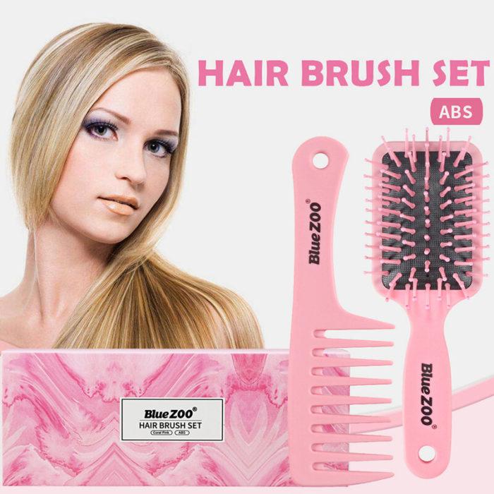 2 Pcs Anti-Static Hairdressing Comb Set Portable Travel Makeup Airbag Head Massage Comb