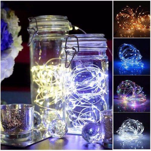 2M 20 LED Battery Operated Fairy Lights Christmas Wedding Decoration