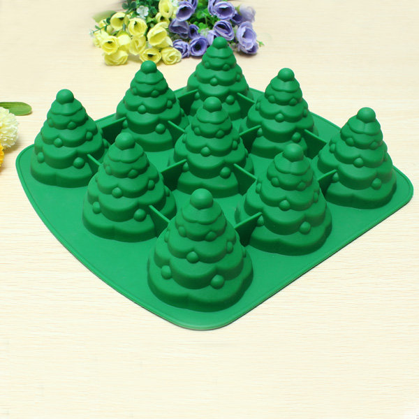 3D Christmas Tree Cake Mould Silicone Cookie Chocolate Baking Mold Multi Function Kitchen AAccessorie.s
