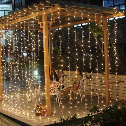 3mx3m 300 LED String Lights Curtain Lights 220VLight Home Balcony Garden Christmas Decor