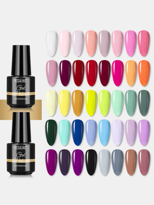 40 Pcs Nail Polish Gel Lacquer Manicure Mixed Nails Colored Semi Permanent UV Gel
