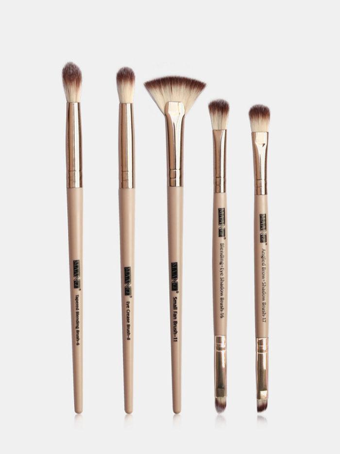 5 Pcs Makeup Brushes Set Portable Beginners Simple Makeup Eye Shadow Blush Brush Kit