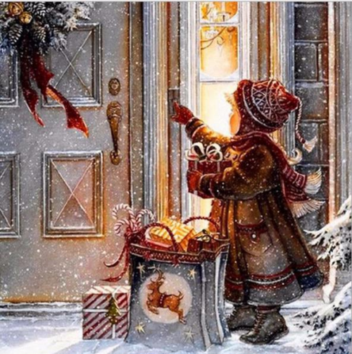 5D DIY Diamond Painting By Number Kits Cross Stitch Christmas Girl Living Room Home Decor