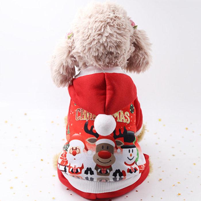 Christmas Pet Dog Hoody Costume Puppy Warm Coat Christmas Gift