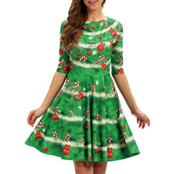 Christmas Tree A Line Dress
