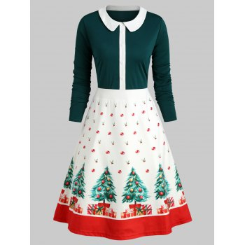 Christmas Tree Peter Pan Collar Dress