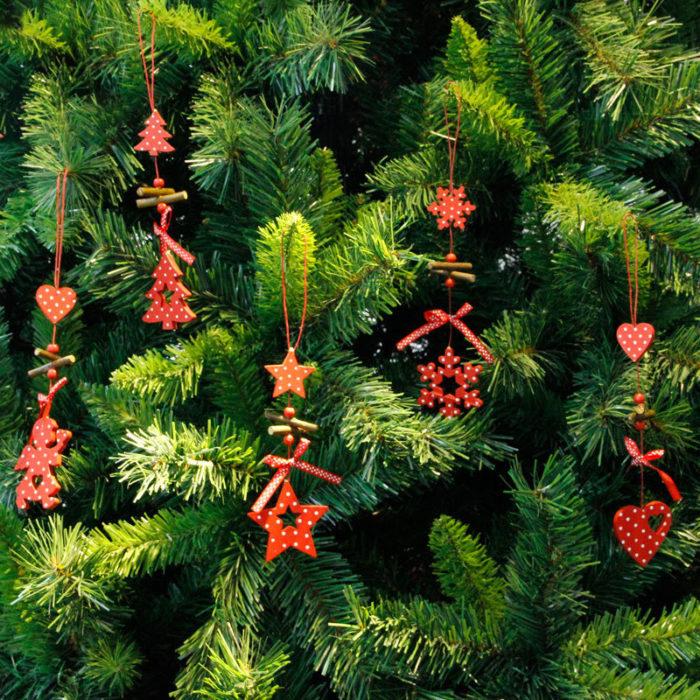 Creative Christmas Wooden Pendant Hanging Christmas Ornament Stars Snow Christmas Tree Angle Shape