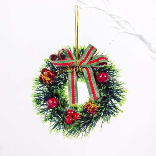 Creative PVC Mini Christmas Wreath Christmas Trees Decor Home Living Room Door Decor