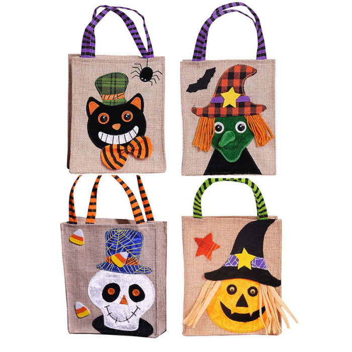 Halloween Gift Bag Pumpkin Black Cat White Ghost Witch Gift Bag Ghost Festival Candy Bag