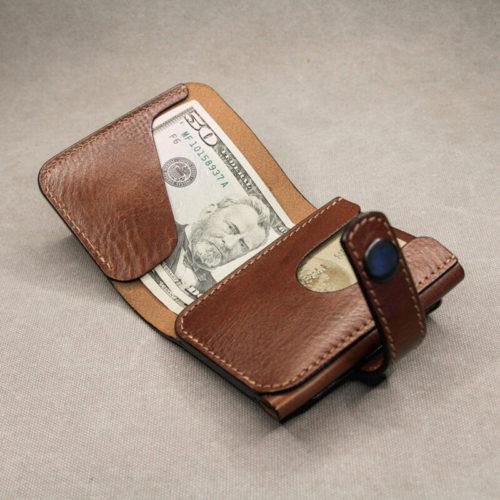 Men Minimalist Money Clip Personalized Short Wallet