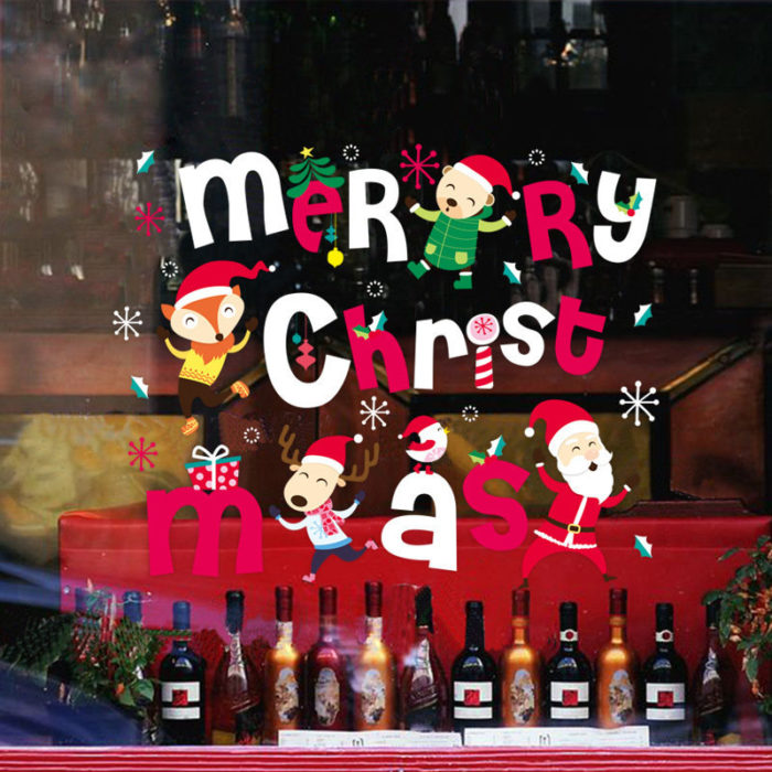 Miico XL616 Christmas Sticker Home Decoration Sticker Window and Wall Sticker Shop Decorative