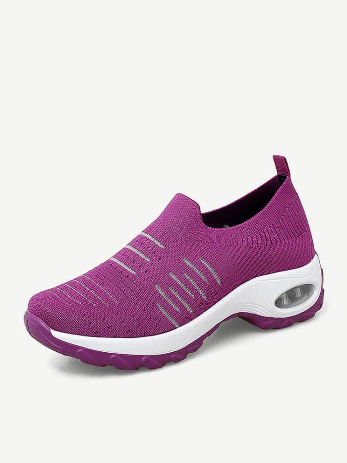 Outdoor Mesh Wearable Slip On Platform Women's Sneakers