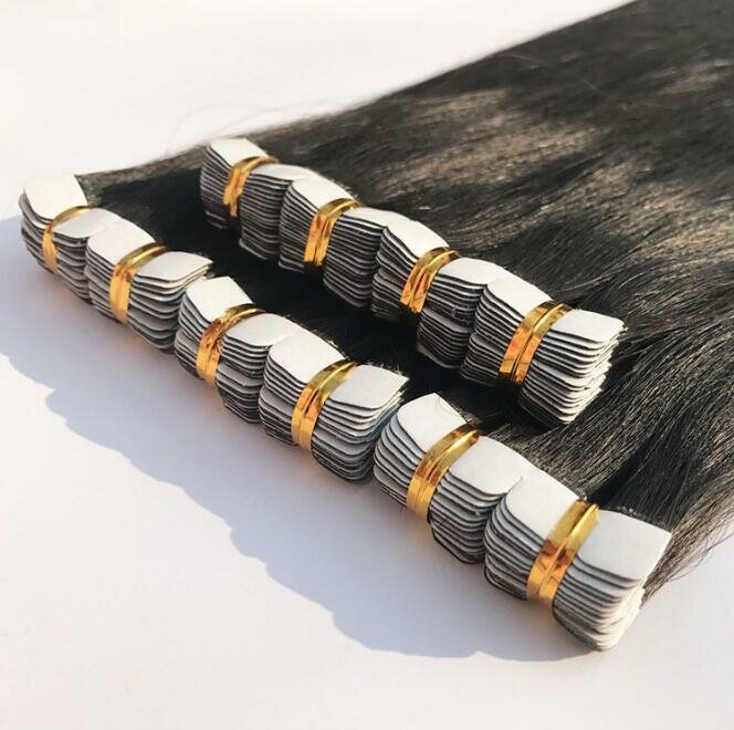 Real Brazilian Straight Human Hair Clip Extensions Hairpiece Black Long Natural Bundles
