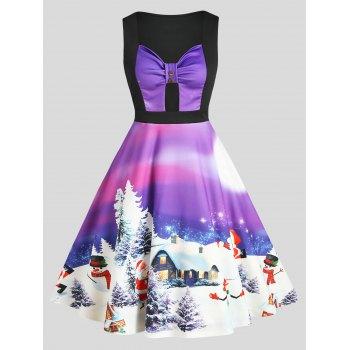 Sweetheart Neck Christmas Tree Santa Claus Dress