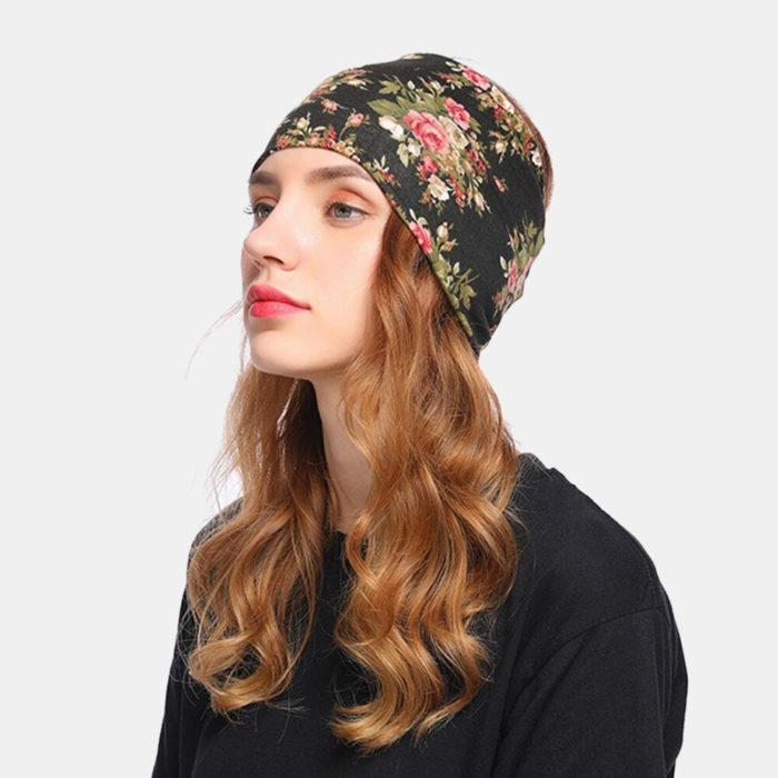 Women Floral Cancer Chemo Hat Beanie Scarf Turban Head Wrap Cap