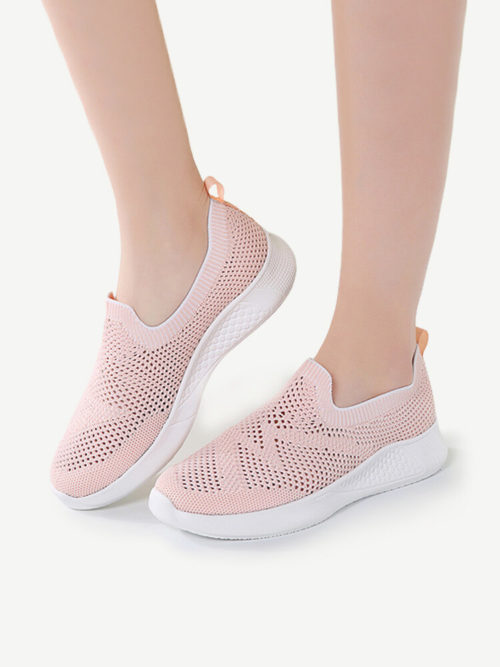 Women Mesh Breathable Comfy Slip On Non Slip Casual Sneakers
