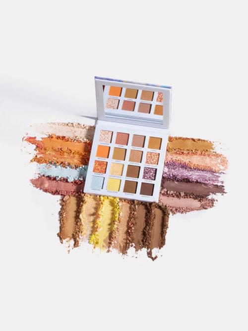 16 Colors Silky Matte Eyeshadow Palette Gradation Smudge Crystal Eyeshadow Eye Makeup