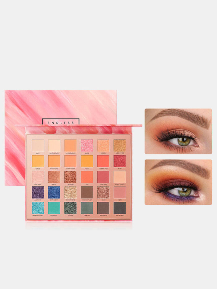 30 Colors Sequins Pearly Eyeshadow Palette Matte Beginner Daily Party Makeup Pallete