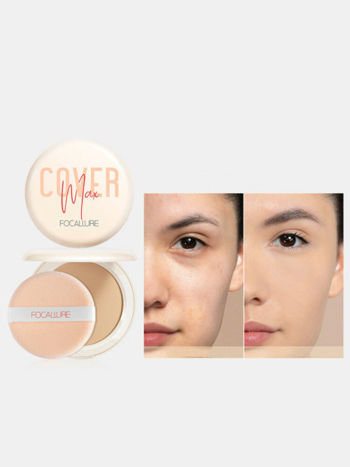 Dry-Wet Dual Purpose Powder Foundation Waterproof Long-Lasting Concealer Matte Face Makeup