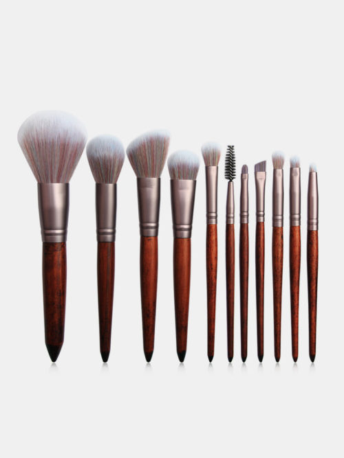 11 Pcs Makeup Brushes Set Cosmetic Foundation Powder Blush Eye Shadow Makeup Tool Kit