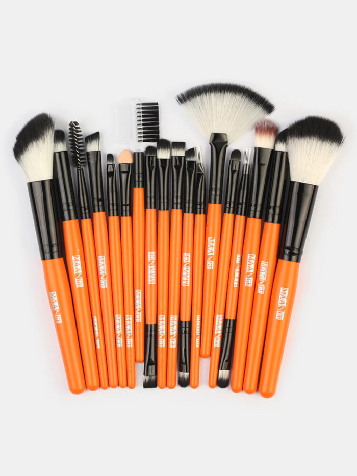 18 Pcs Makeup Brushes Set Eye Shadow Eyebrow Eyelashes Fan-Shaped Eye Makeup Brush