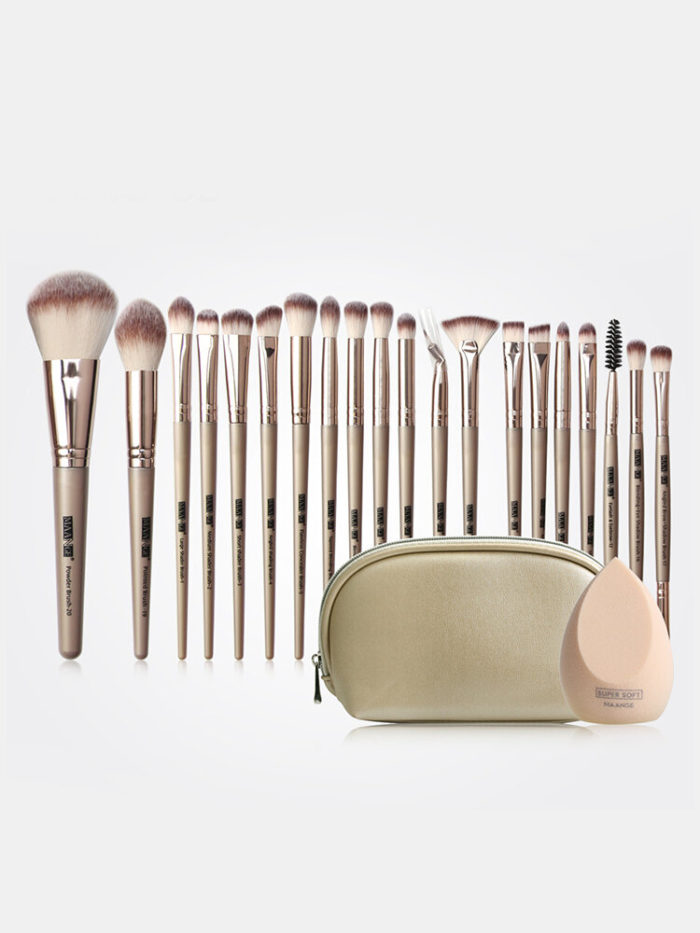 20 Pcs Makeup Brushes Set With Portable Brush Bag Sponge Eye Face Makeup Tool Kit