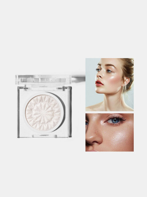 3 Colors Glitter Face Highlighter Long-Lasting Shiny Ultra-Fine Highlight Powder Face Makeup