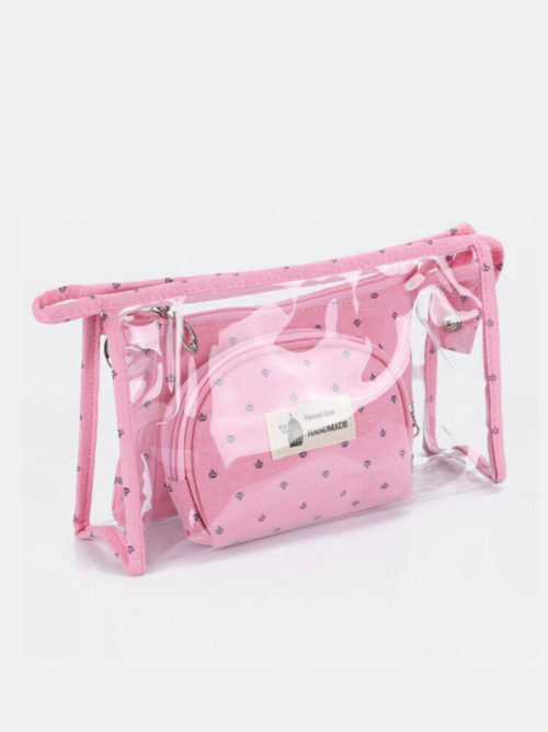 3 Pcs Son-Mother Makeup Bag Set Portable Travel Waterproof Storage Bag