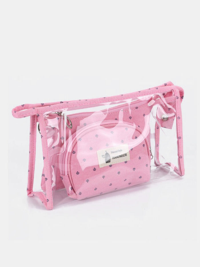 3 Pcs Son-Mother Makeup Bag Set Portable Travel Waterproof Storage Bag