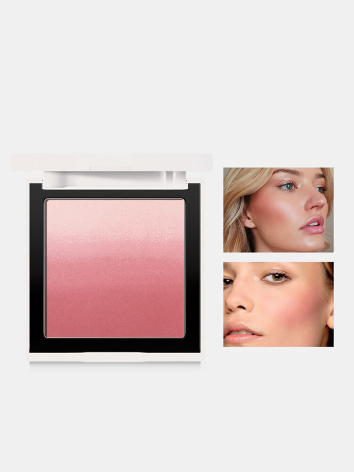 4 Colors Gradient Blush Palette Waterproof Brightening complexion Long Lasting Silky Face Makeup