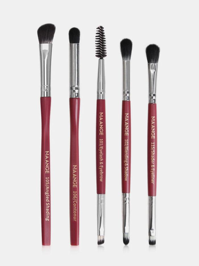 5 Pcs Hexagonal Makeup Brushes Set Eye Shadow Eyelashes Eye Makeup Brush Tool Kit