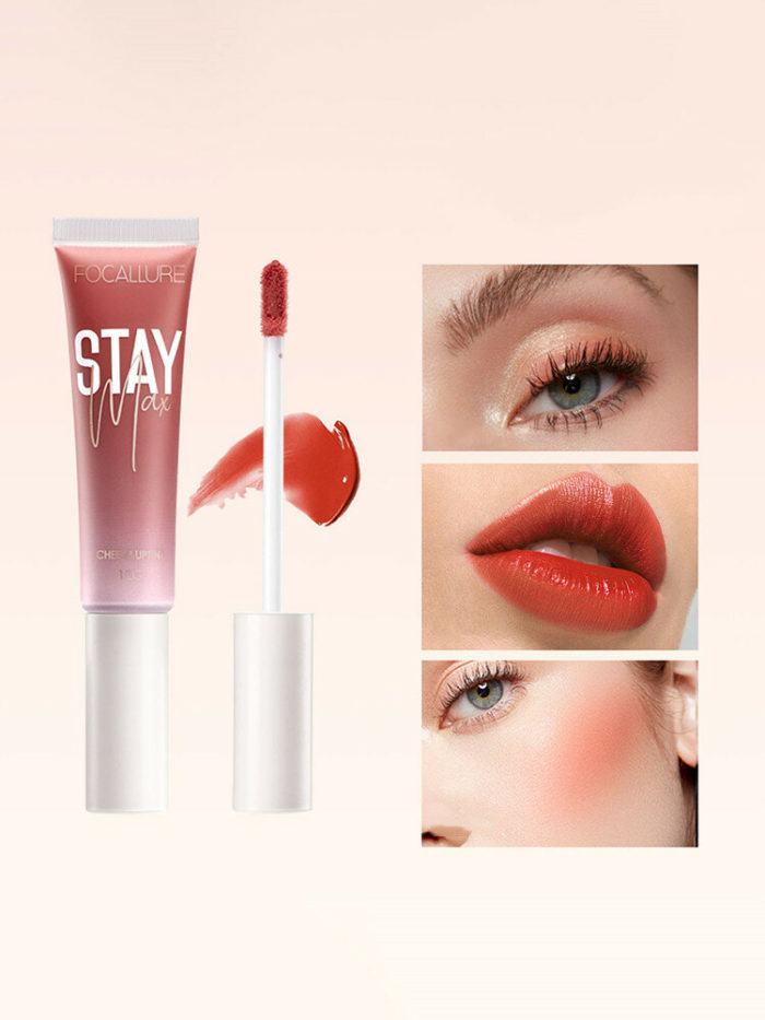 7 Colors Dual-Use Moisturizing Lip Gloss Liquid Blush Long-Lasting Waterproof Lip Makeup