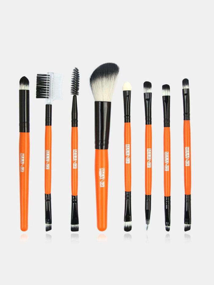 8 Pcs Candy Color Eye Makeup Brushes Set Portable Eye Shadow Brush Eyelash Brush Tool
